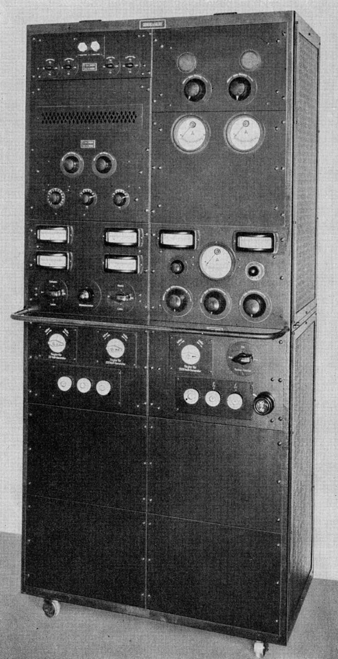 A big amplifier of  an early sound-film system (ca. 1930)