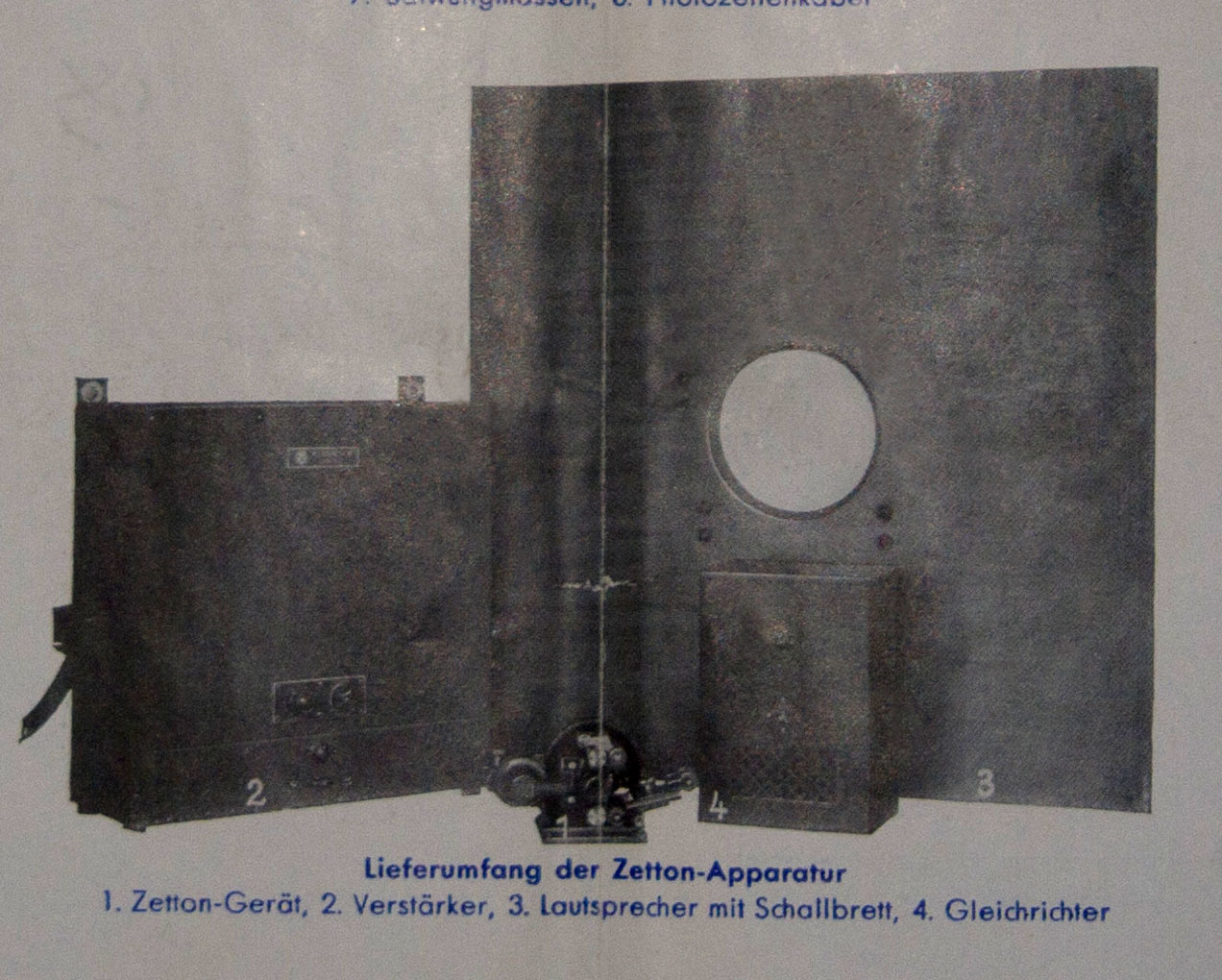 System components of ZETTON apparatus (1931)